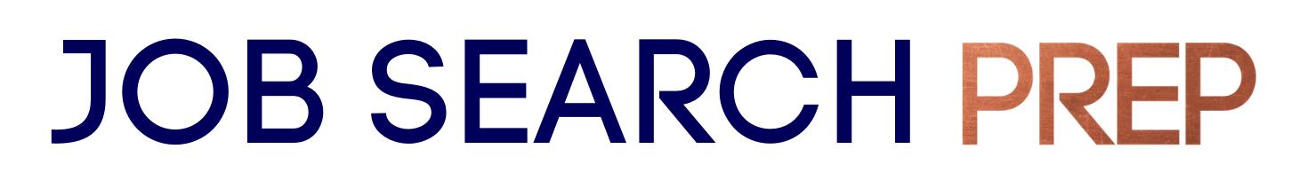 Job Search Prep Text Logo